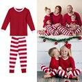 3 T-7 T Niños Adultos Juego de Navidad ropa de Dormir Ropa de Dormir Pijamas (Niños) Verde WhiteStriped DM de Dormir #6 DM #6