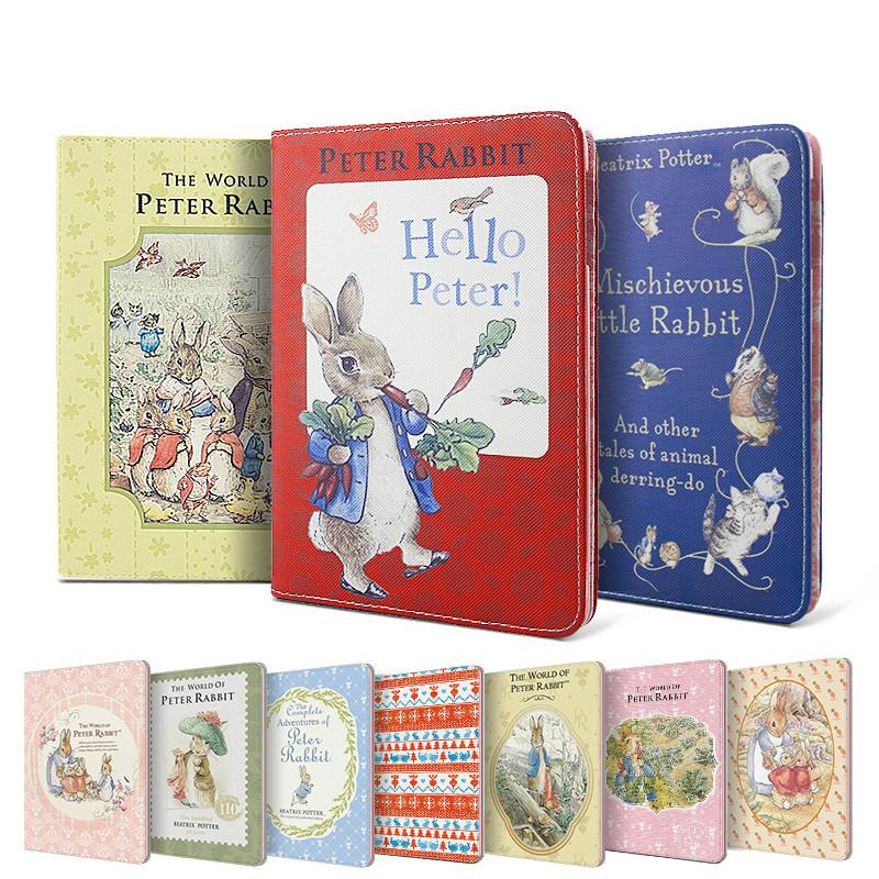 Anime Cute Kids Funny Smart Case Stand For Ipad Air 2 Peter Rabbit Children Girls Boys Lovely Animal Case For Ipad Air 2