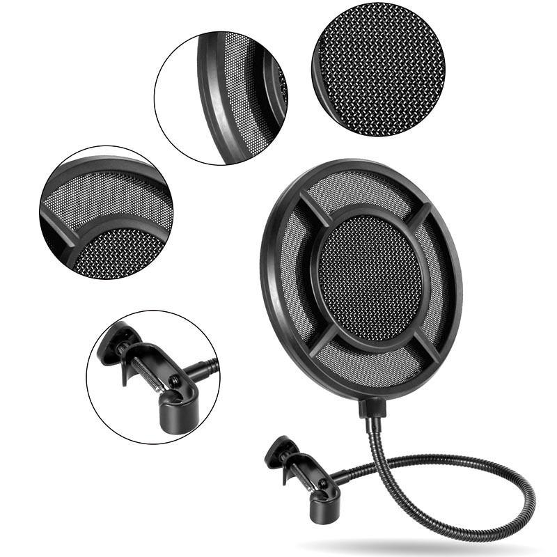 6 Zoll Doppel Schicht Studio Windschutz Pop Filter Maske Schild Für Mikrofon Mic Xr649 Einen Effekt In Richtung Klare Sicht Erzeugen Heimelektronik Zubehör Unterhaltungselektronik