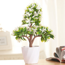Colorful Artificial Flower fake Trigeminal Potted Plant Flowers Office Home Decor bonsai DIY Home Decoration Accessories T30