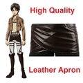 Shingeki nenhum Ataque Kyojin Em Titan Deluxe Edition Cosplay Trajes De Couro De Chocolate Cinto Avental Saia frete grátis