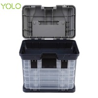 Yolo 27 18 27CM Outdoor Big Fishing Box Sea Boat Fishing Lure Accessory Case Water Resistant