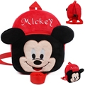 Moda Red Marca Disney Mickey Mochilas De Pelúcia Brinquedos Crianças Presentes Dos Desenhos Animados do Kawaii Anime Mochilas Escolares Brinquedos Dj058