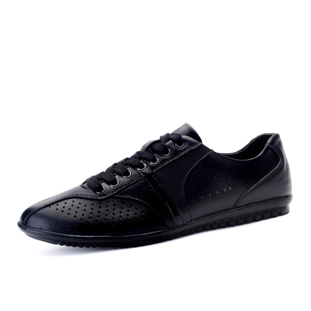 Summer Men Shoes 2017 New Casual Shoes Genuine Leather Flats Lace Up Casual Shoes Driving Zapatillas Deportivas Hombre T030318 2017 new summer breathable men casual shoes autumn fashion men trainers shoes men s lace up zapatillas deportivas 36 45