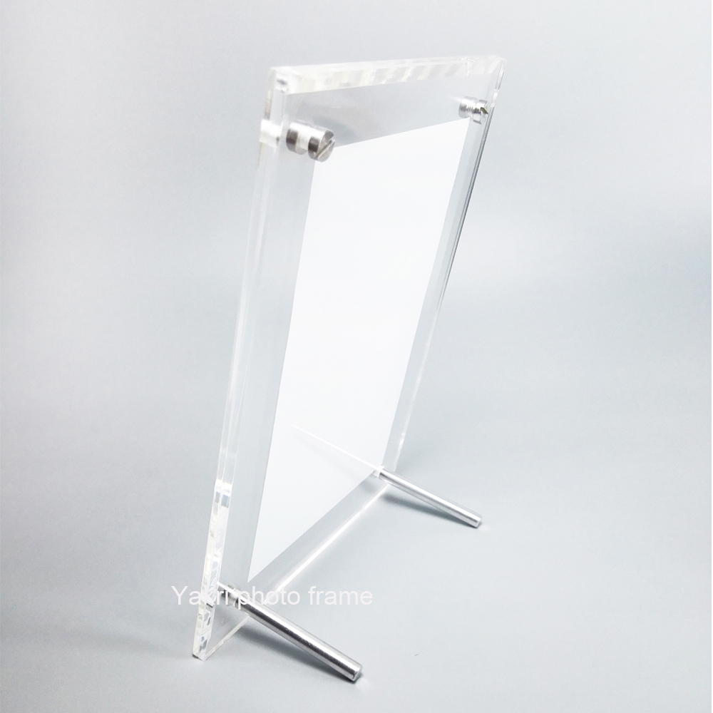 10 units/pack) Free Standing Poster frames Screw Clear Acrylic ...