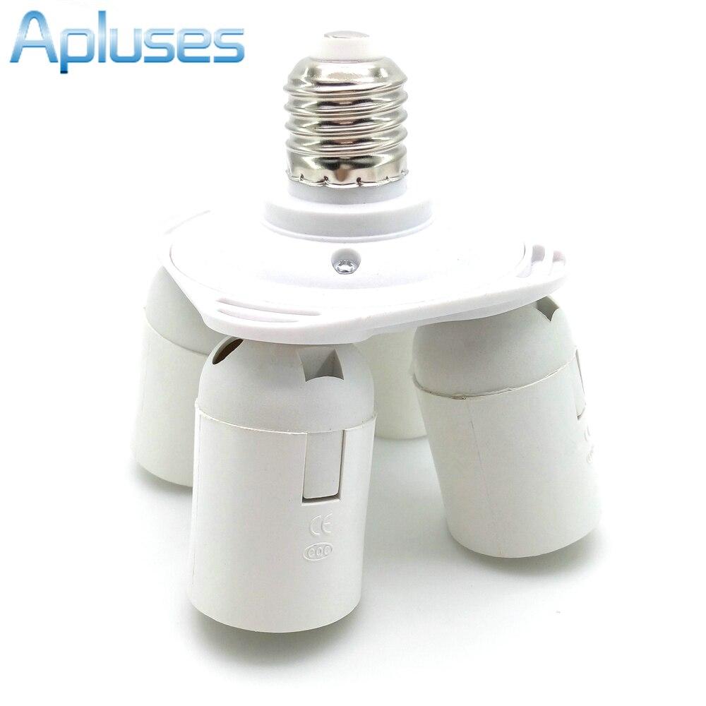 4 in1 E27 Base LED Bulb Holder Socket Splitter Light Lamp Bulb Adapter Holder Lamp Bases For Softbox High Quality
