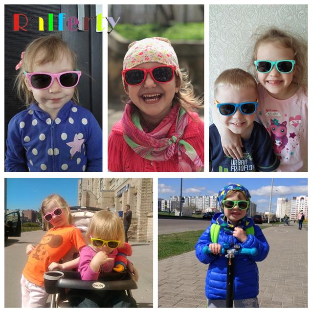 Kids Sunglasses Polarized Flexible Frame UV400 Pink Baby Boy Girl Children Sun Glasses Infantil