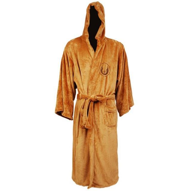 Hot Sale Star Wars Robes Darth Vader Coral Fleece Terry Jedi Adult Bathrobe Robes Halloween  Cosplay Costume for Men Sleepwear