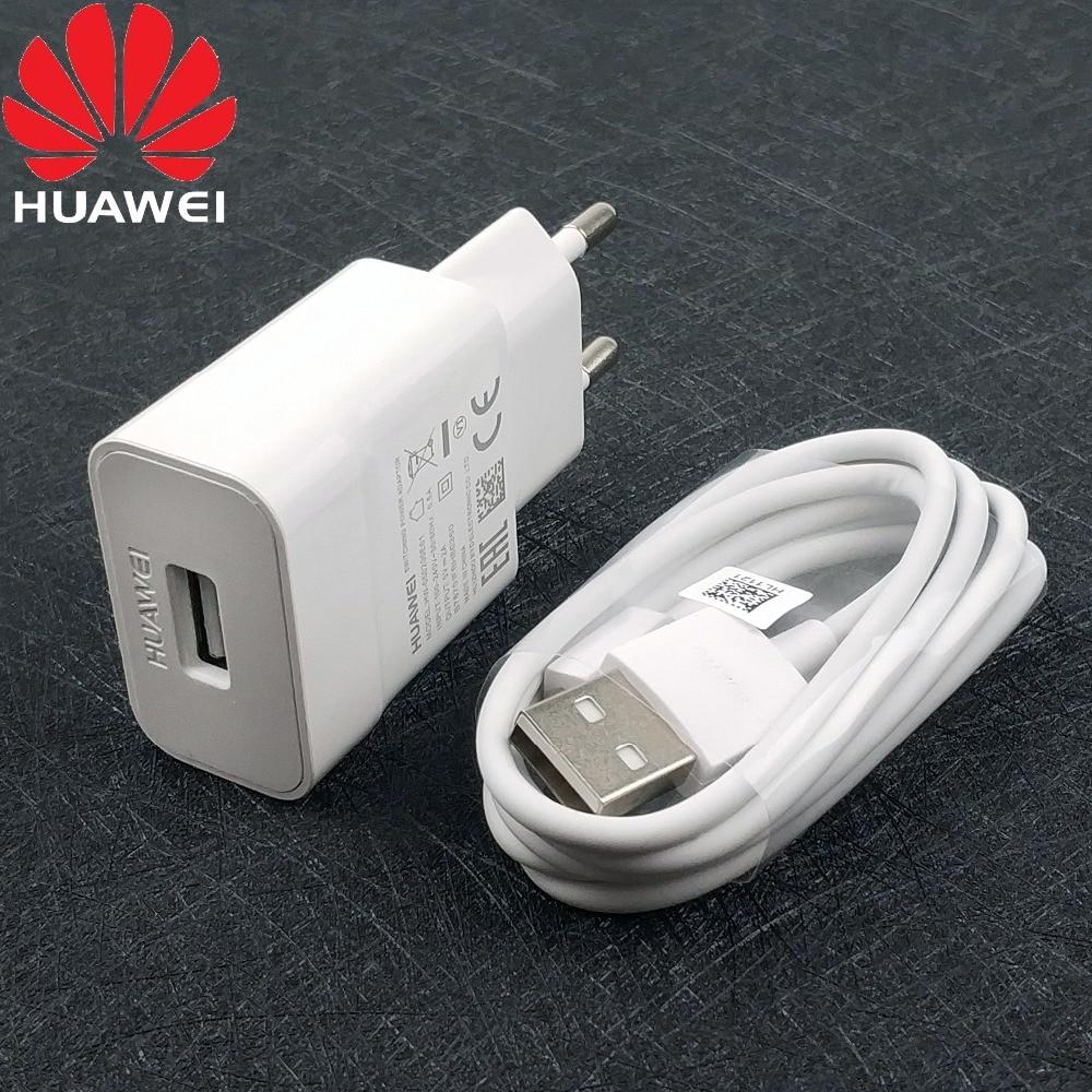 Купить Натуральная huawei Y6 Зарядное устройство 2A ЕС стены Micro usb кабель зарядки адаптер для huawei p8/p8 lite/P8 Max/Коврики 7/Коврики 8/Y5 ii смартфон на Алиэкспресс