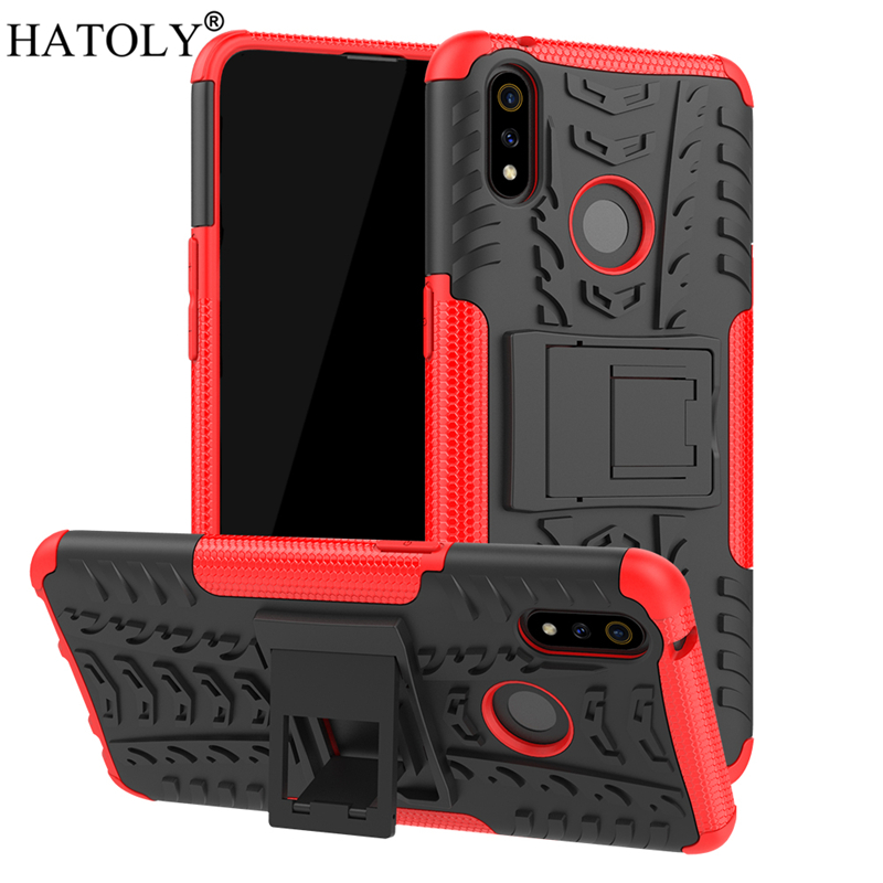OPPO Realme 3 Pro Case Shockproof Armor Shell Hard Rubber Silicone Back Phone Cover OPPO Realme 3 Pro Case for OPPO Realme 3 Pro in Fitted Cases from Cellphones Telecommunications