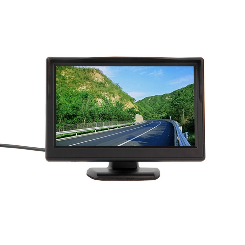 Date 800*480 5 pouce De Voiture TFT LCD Moniteur Écran Moniteur Vidéo pour TV Rétroviseur N ° Caméra De Recul DVD MAGNÉTOSCOPE 12 v Vente Chaude