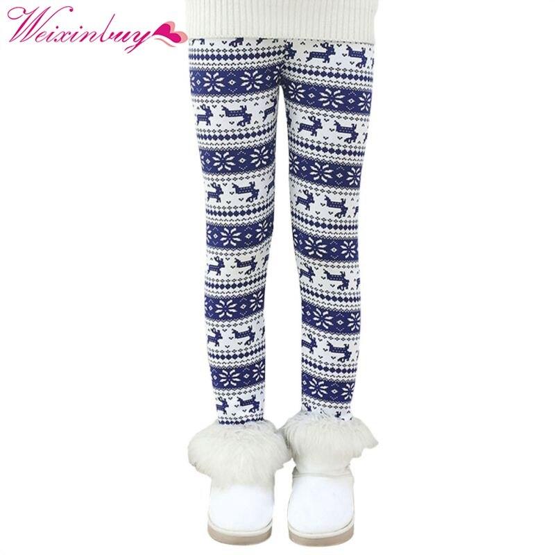 2017 Children Pants Autumn Thick Warm Leggings Girls Pants Plus velvet winter girl leggings new arrival small children spring fall children s pants girls wear leggings pants leggings girl 5 10y