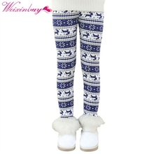 Winter Autumn Thick Warm Leggings Children Pants Clothing Cotton Print Girls Childrens