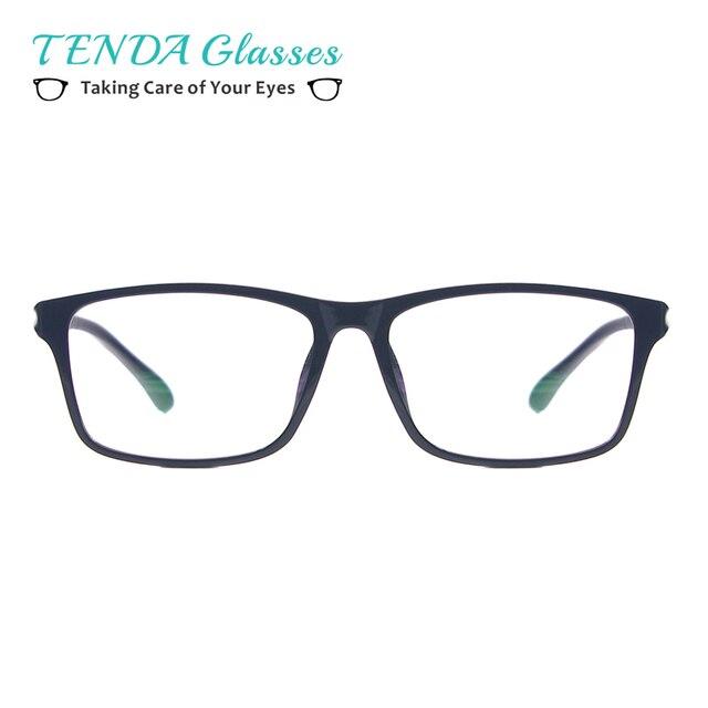 Mulheres De Plástico Leve Óculos Quadrados Homens Grandes Óculos de  Computador Anti Luz Azul Óculos Para acdaadf619