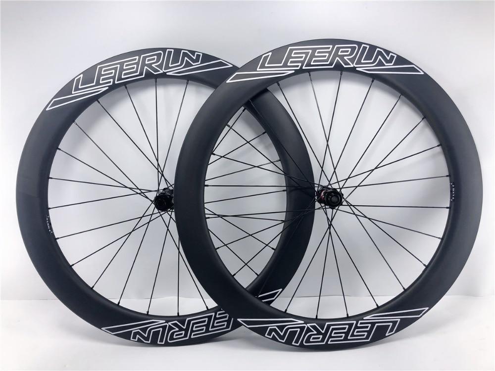 High quality carbon wheels road disc brake 60mm clincher tubular U shape 23/25mm width roadclo cross bike wheelset 24/24h 28/28h
