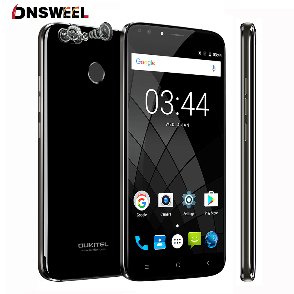 Oukitel U22 Android 7.0 Smartphone 2GB RAM 16GB ROM MTK6580A Quad Core cell phone 5.5'' HD 4 Cameras Fingerprint Mobile Phone
