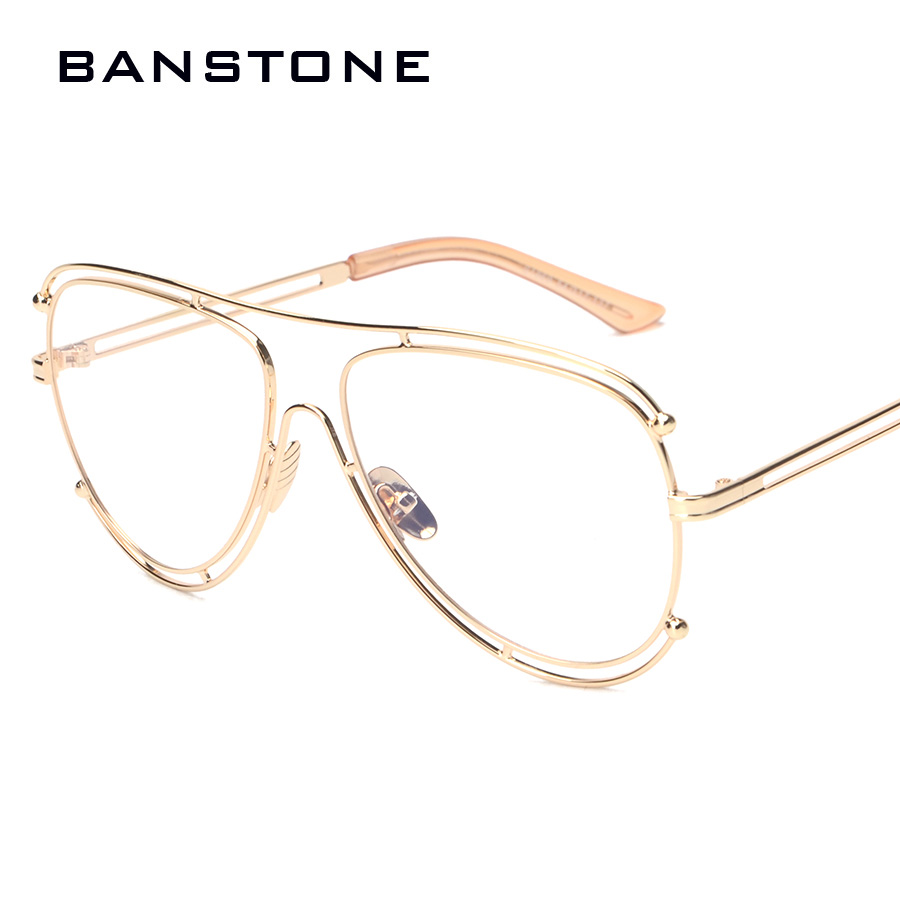 BANSTONE Eyeglass Frame Fashion Brand Transparent Glasses ...