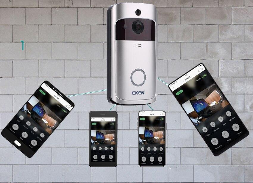 Купить с кэшбэком V5 Smart IP WIFI Doorbell Video Intercom WI-FI Door Phone Door Bell Camera For Apartments IR Alarm Wireless Security Camera