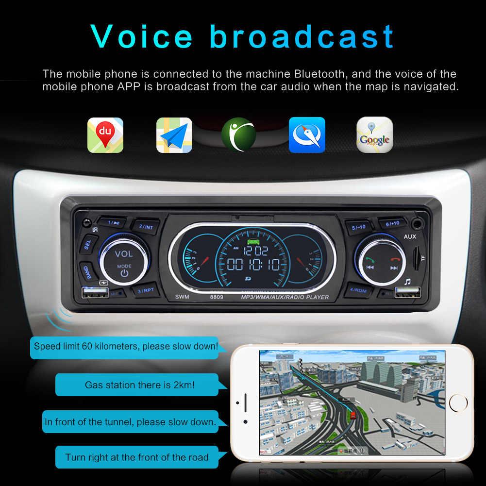 車ラジオ Autoradio リモコンステレオ 1 喧騒の Bluetooth AUX/TF/USB 自動電話充電オーディオ