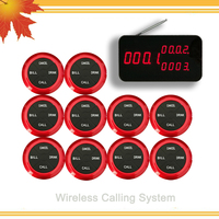 Ycall Restaurant Pager Wireless Calling Paging System 1 Host Display 10 Table Bells Call Button Customer Service