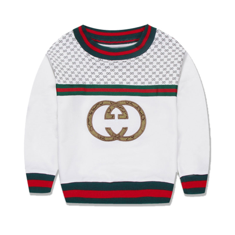 Fashion brand design baby boys kids italy o neck regular cotton unisex 2 7 year full