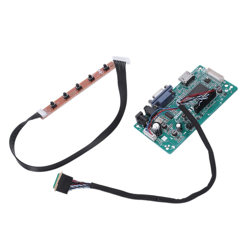 Good 30 Pins Hdmi Vga Input Controller Board Kit Lcd Edp Driver Board For 1080p B156han01.1 Lp156wf4 Raspberry Pi 3 Laptop Lcd Scre Relieving Heat And Thirst.
