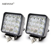 2pcs 48W LED Work Light For Indicators Motorcycle Spot Flood Beam Driving Offroad Boat Car Tractor