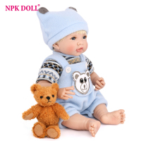 NPKDOLL 35cm Soft Silicone Doll Reborn Baby Handmade BeBe Doll Toy For Girls Newborn Baby