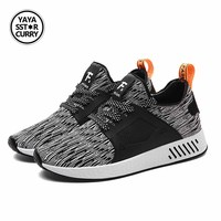 YAYA SSTAR CURRY Men Summer Lightweight Running Shoes Comfot Lace-up Outdoor Walking Shoes Sport Sneakers Trail Running Shoes