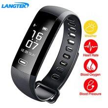 Langtek интеллектуальные измерять кровяное давление группа для кислорода фитнес-браслет пульсометр браслет Спорт SmartBand PK xiomi мне Ray-Ban