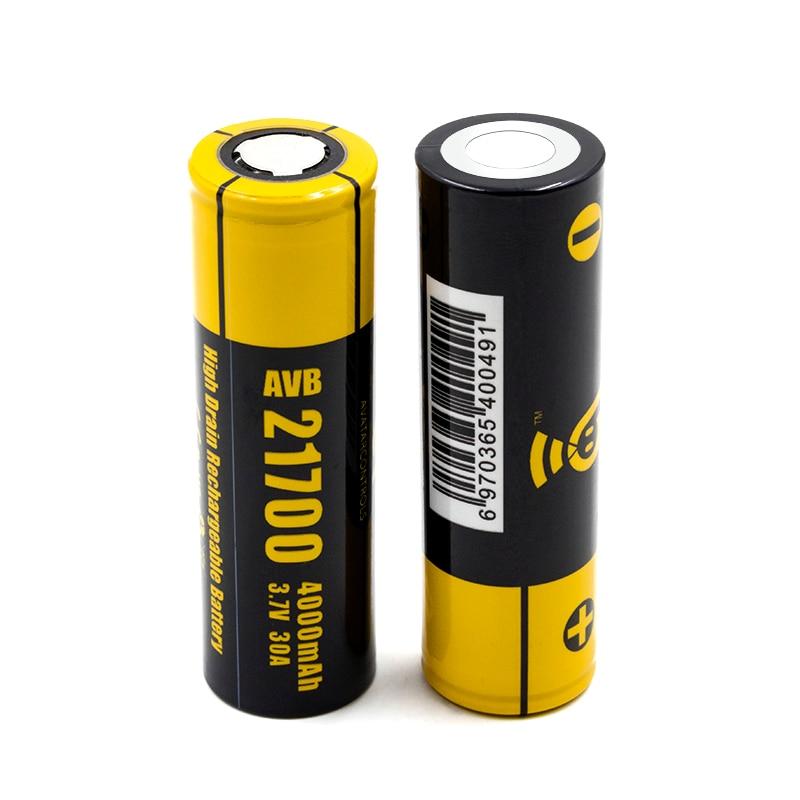 Original Eleaf AVB 21700 Batterie für istick pico 21700 mod Hohe Ablauf Wiederaufladbare 4000 mah 30A Elektronische Zigarette Batterie 2 stücke