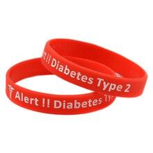 糖尿病シリコーンゴムブレスレット毎日リマインダー 50 個警告タイプ OBH