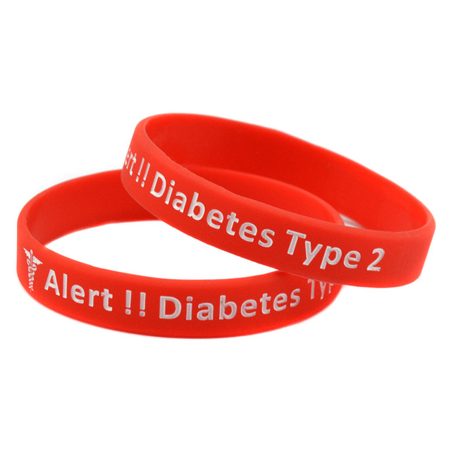 47d63ecc864f OneBandaHouse 50 unids lote Alerta Médica pulsera para caso de emergencia  diabéticos tipo 2 pulsera