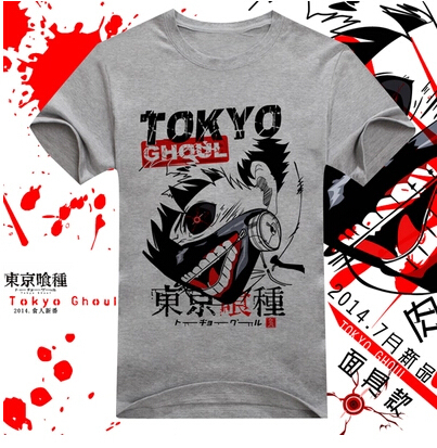 New Hot Japanese Anime Tokyo Ghoul Kaneki Ken Cosplay SUZUYA JYUZO costume blood mask cotton tshirt tee