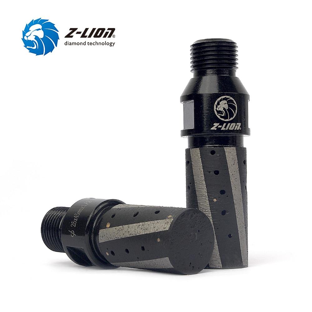 Z LION Diamond CNC Finger Bit D25 45T 1 2 Gas Resin Filled Diamond Finger Grinding
