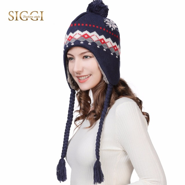 a4826b762a7 FANCET Winter Women Wool Beanies Skullies Femme Ear Flap Warm Pompom Hats  For Girls Bonnet Autumn