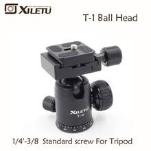 Xiletu T-0 Portable Aluminum Tripod Ball Head Ballhead Quick Release Plate Pro Camera