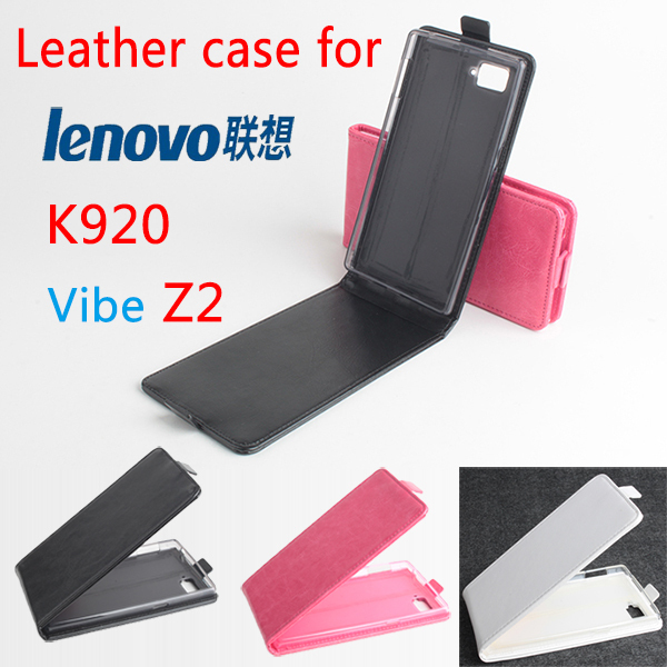 Lenovo k920 Case Flip Cover High Quality New Phone Cases For K920 VIBE Z2 Mobile Phone Black Rose White Color Free shipping