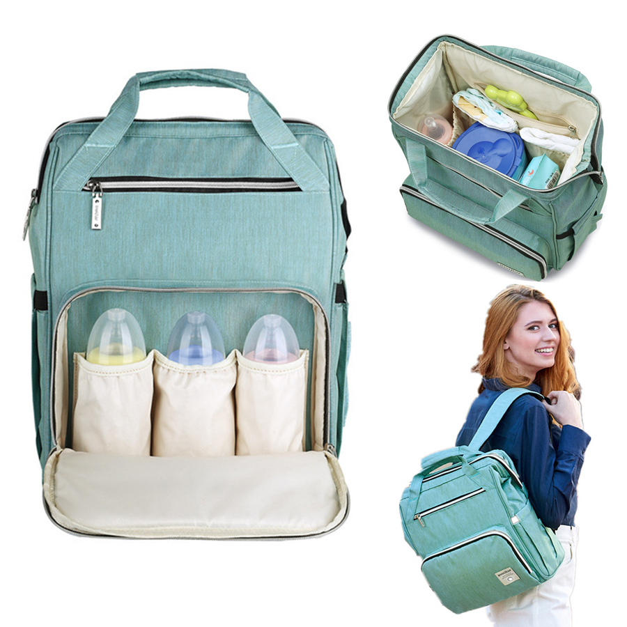 Diaper Bag Large Capacity Nappy Bag Waterproof Mom Maternity Travel Backpack Nursing Bag Baby Care Stroller Handbag