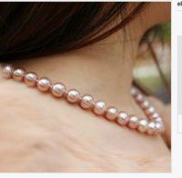 single strand south sea11 12mmround lavender pearl necklace1814k