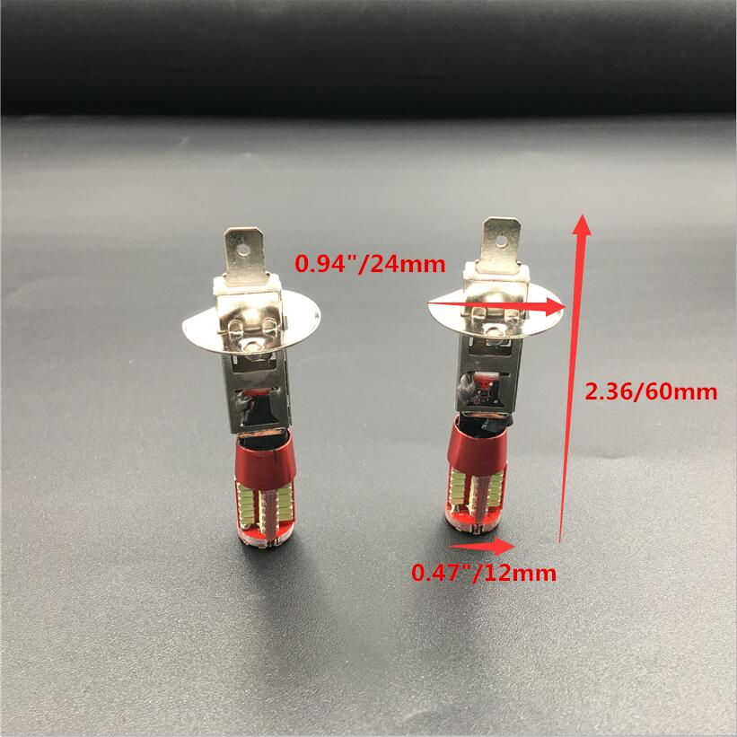 2X <font><b>H1</b></font> 3014 57 SMD <font><b>LED</b></font> Fog Tail Turn <font><b>DRL</b></font> Car Light Lamp Bulb Super Bright Canbus Error Free White Red Amber Blue image