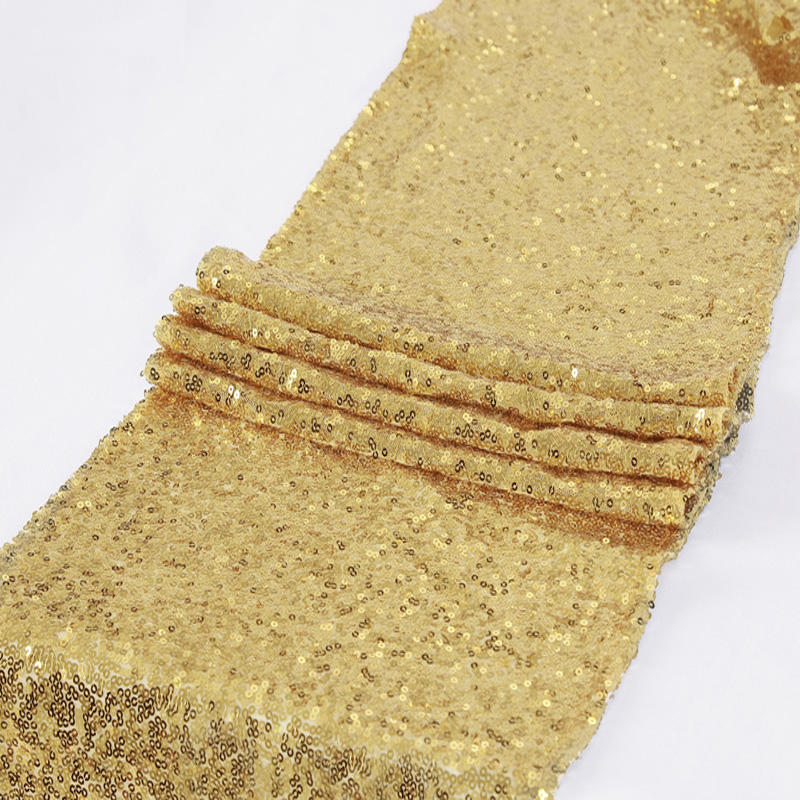 30 275cm Bling Gold Sequin Table Runner Sparkly Home Decoration For Wedding Party Christmas Hotel