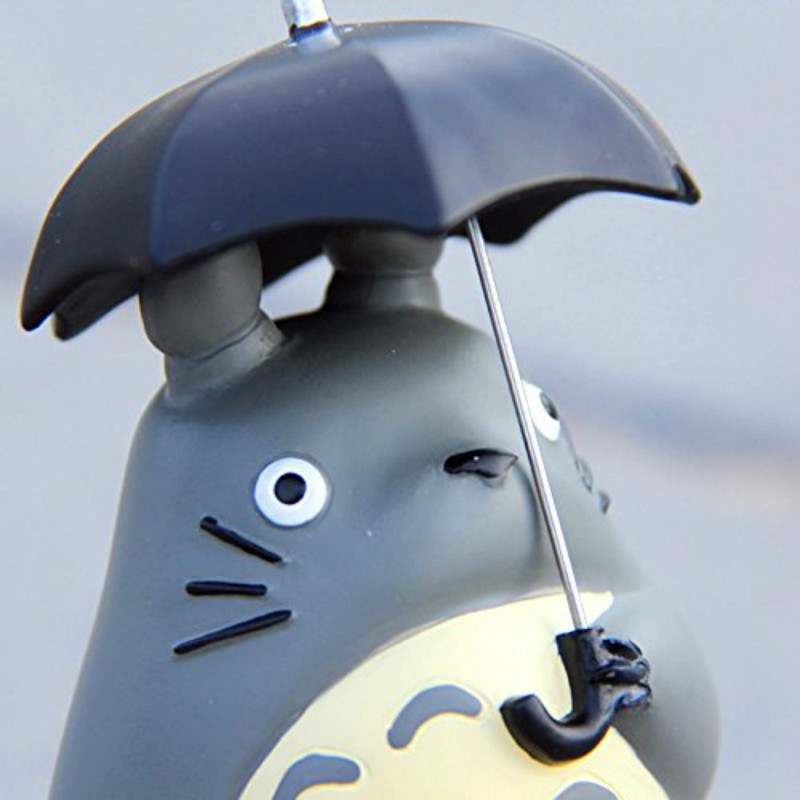 "Action Figures Toy Cartoon Characters Søt Studio Ghibli Min nabo 10cm Totoro med Paraply Resin 4 ""Figur Statue"