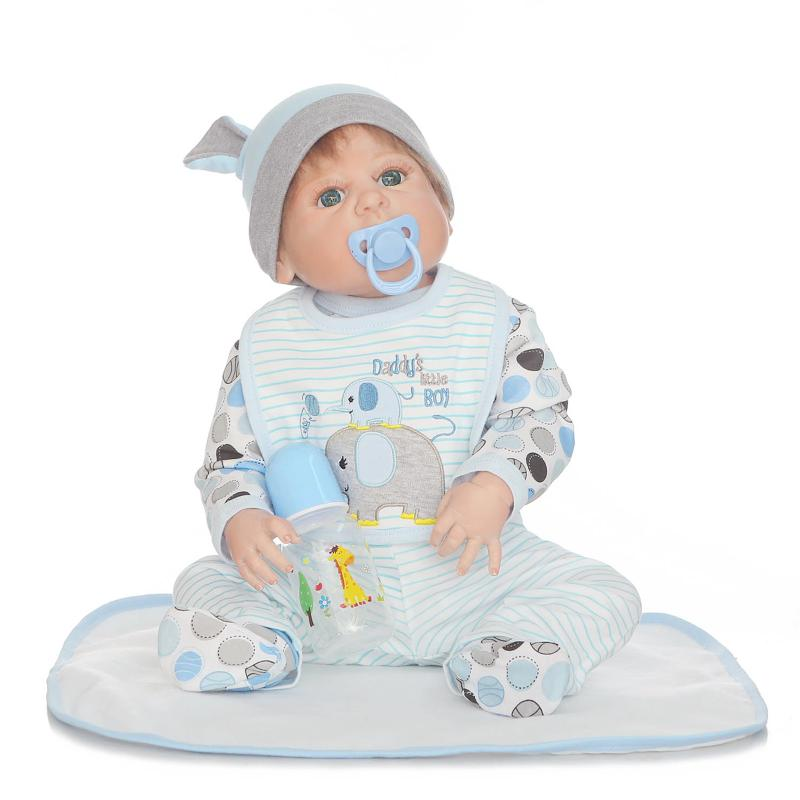NPK 57CM Reborn Dolls Realistic Soft Full Body Silicone cute baby toys can enter water bath doll Girls toys bebe real reborn npk black skin full silicone girl pacifier model baby dolls 56cm lifelike reborn baby boneca can enter water bath doll toys