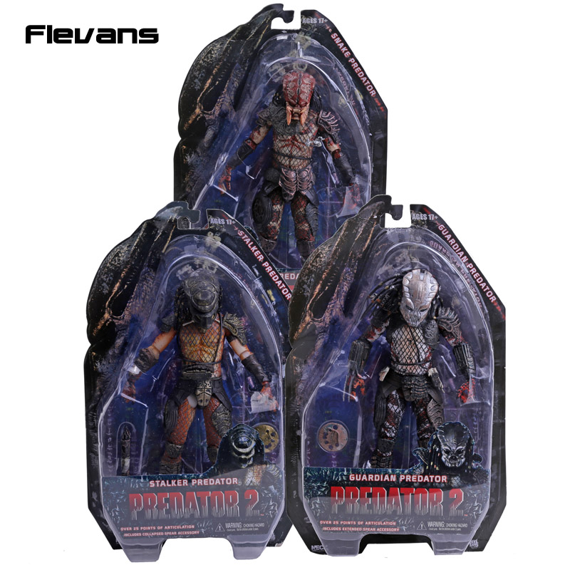 NECA Predator 2 Guardian Snake Stalker Predator PVC Action Figures Collectible Toys 7