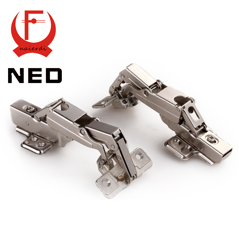NED V165 Full Size 175deg Hydraulic Buffer Hinge Rustless Iron Buffering Soft Close Cabinet Cupboard Furniture Door Hinges hamlet ned r