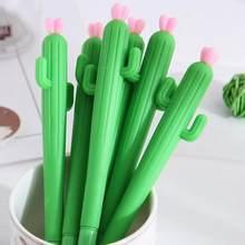 20 pçs imitação cactus caneta neutra pequeno estudante fresco caneta caneta preta assinatura canetas criativo papelaria presentes por atacado