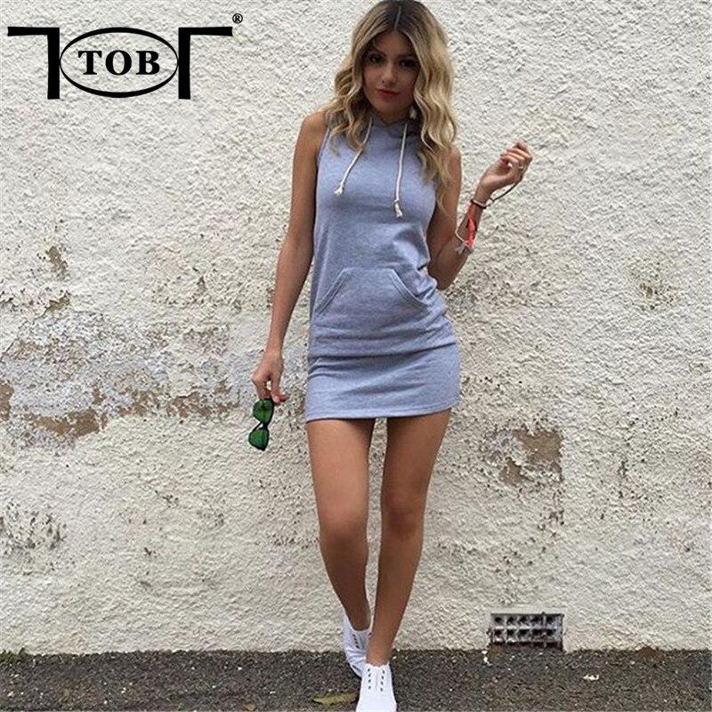 48ee1c462300 TOB Alla Moda Con Cappuccio Estate Mini Vestito Casuale delle Donne Senza  Maniche Dress online shop abbigliamento Grande tasca Abiti prezzo in  dollari WM025 ...