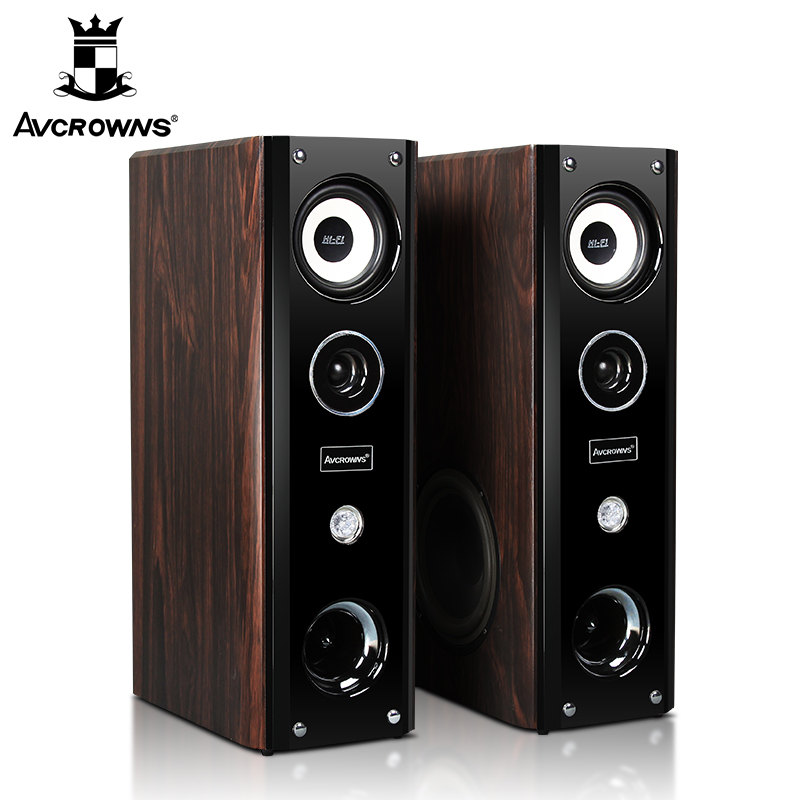 01 Wooden Home Living Room TV Audio Theater Multimedia Acoustic Speakers In H