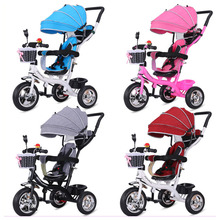 2 in 1 Baby Toddle Child Tricycle Trolley Stroller Pushchair Pram Buggy Carriage Bike Bicycle 3Y~5Y